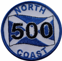 Scotland North Coast 500 Highlands Route Embroidered Patch   - A533